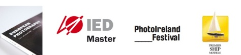 Logos of European Photography Magazine, IED Madrid, PhotoIreland, Premier Model Ships