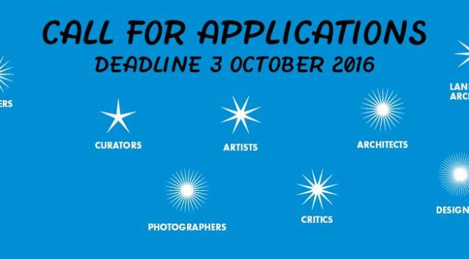 The Van Eyck Call for Applications for Residency (Maastricht). Deadline: Oct. 3, 2016.
