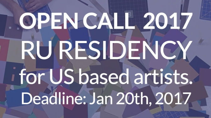 Residency for US based artists. Deadline: Jan. 20, 2017