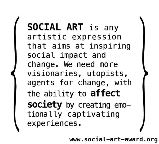Social Art Award (Berlin). Deadline: Mar. 31, 2017