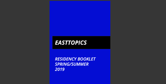 Easttopics RESIDENCY PROGRAMME booklet online.