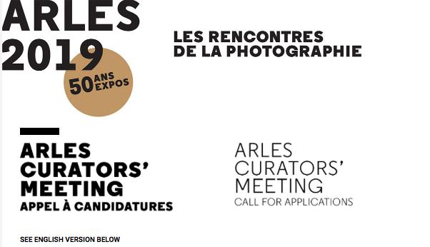 Curators' Meeting, Arles. Deadline: May 13, 2019