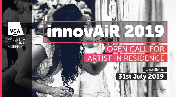 innovAiR Call for Residency on Malta. Deadline: July 31, 2019